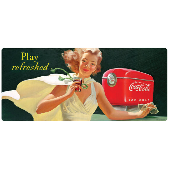 Coca-Cola Girl Play Refreshed Decal