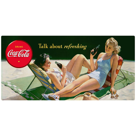 Coca-Cola Bathing Beauty Talk About Refreshing Decal