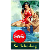Coca-Cola Couple at Pool So Refreshing Decal