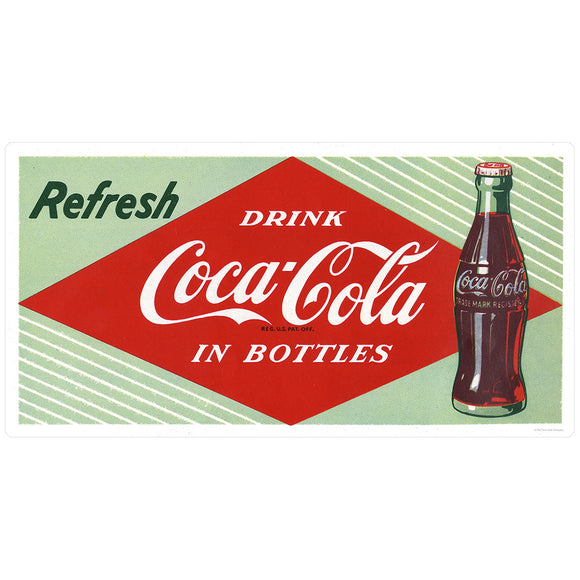 Refresh Drink Coca-Cola In Bottles Decal