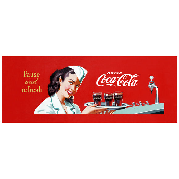 Pause and Refresh Coca-Cola Soda Fountain Decal