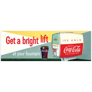 Get a Bright Lift Coca-Cola Soda Fountain Decal