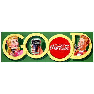 Coca-Cola Good Soda Fountain Couple Decal
