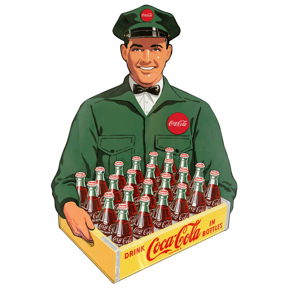 Coca-Cola Crate Delivery Man Decal