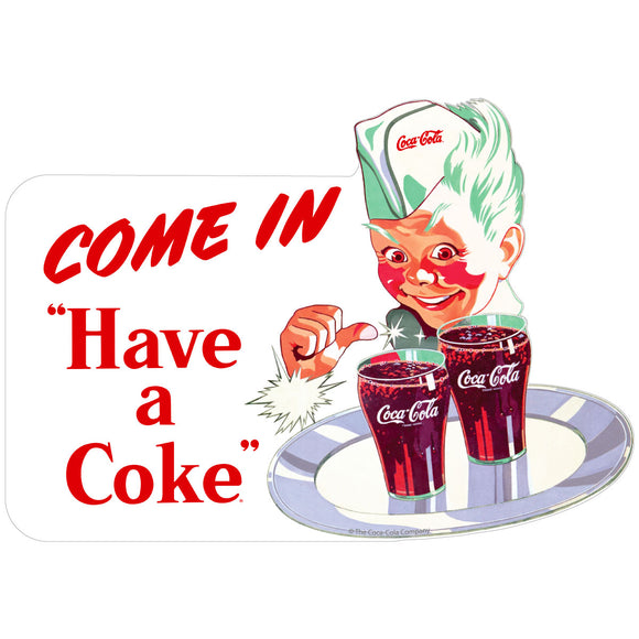 Coca-Cola Sprite Boy Come In Have a Coke Decal