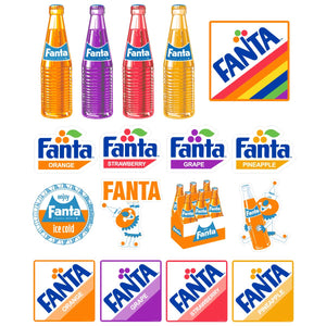 Fanta Assorted Mini Sticker Set of 17