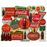 Coca-Cola Antique Signs Collage Decal