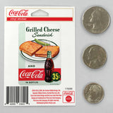 Coca-Cola Grilled Cheese Sandwich Mini Vinyl Stickers 20 ct