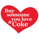 Buy Someone You Love a Coke Heart Mini Vinyl Stickers 20 ct