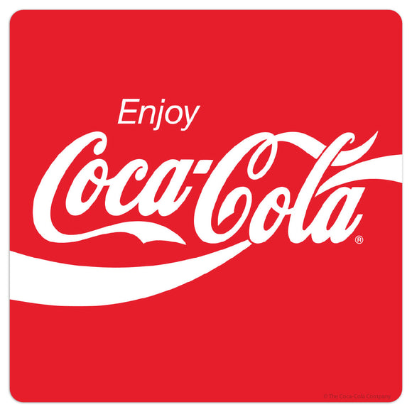 Enjoy Coca-Cola Wave Logo 80s Style Mini Vinyl Stickers 20 ct