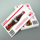Coca-Cola Contour Bottle Mini Vinyl Stickers 20 ct