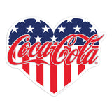 Coca-Cola Heart Patriotic Mini Vinyl Stickers 20 ct
