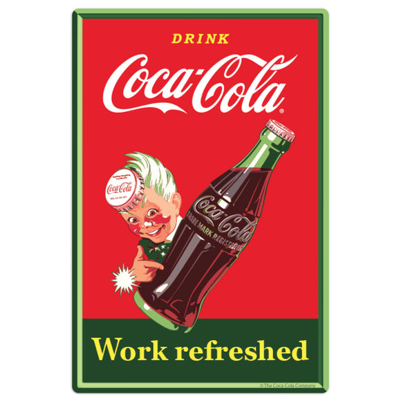 Coca-Cola Work Refreshed Sprite Boy Mini Vinyl Stickers 20 ct