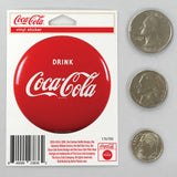 Drink Coca-Cola Red Button Mini Vinyl Stickers 20 ct