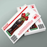 Coca-Cola Bottle Holiday Bow Mini Vinyl Stickers 20 ct