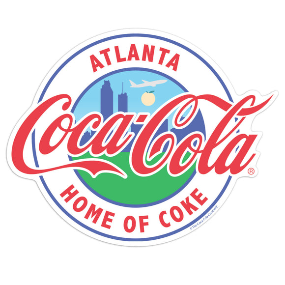 Coca-Cola Atlanta GA Home Of Coke Mini Vinyl Stickers 20 ct