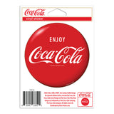 Enjoy Coca-Cola Red Disc Button Mini Vinyl Stickers 20 ct