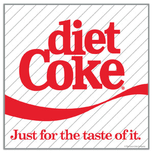 Diet Coke Just For The Taste of It Mini Vinyl Stickers 20 ct