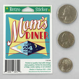 Moms Diner Open 24 Hours Mini Vinyl Sticker 20 ct