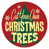 Cut Your Own Christmas Trees Mini Vinyl Sticker 20 ct