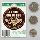 Coffee Get More Out of Life Mini Vinyl Sticker 20 ct