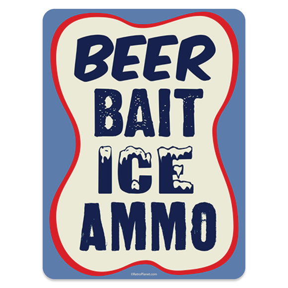 Beer Bait Ice Ammo Mini Vinyl Stickers 20 ct