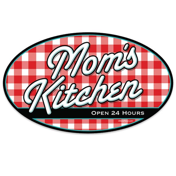 Moms Kitchen Checked Mini Vinyl Sticker 20 ct