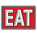 EAT with Checkerboard Mini Vinyl Stickers 20 ct