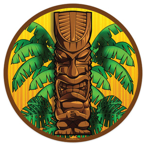 Angry Hawaiian Tiki God Mini Vinyl Sticker 20 ct
