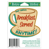 Breakfast Served Anytime Coffee Cup Mini Vinyl Stickers 20 ct