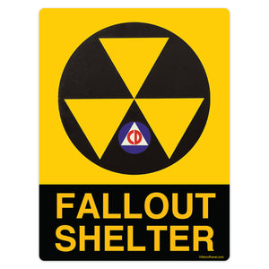 Fallout Shelter Civil Defense Mini Vinyl Sticker 20 ct