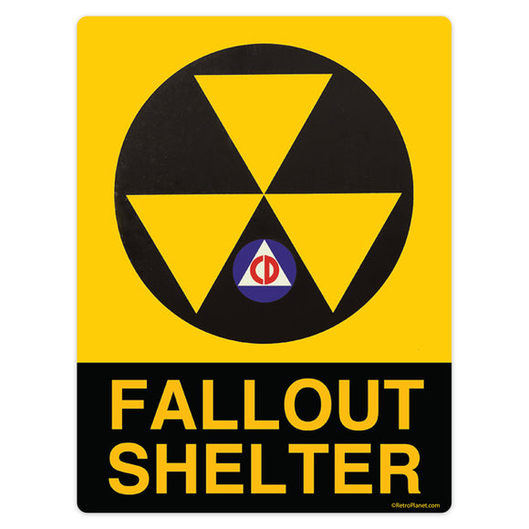 Fallout Shelter Civil Defense Mini Vinyl Stickers 20 ct