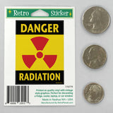 Danger Radiation Mini Vinyl Sticker 20 ct