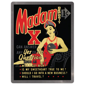Madam X Fortune Teller Machine Mini Vinyl Sticker 20 ct