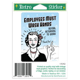 Employees Must Wash Hands Mini Vinyl Sticker