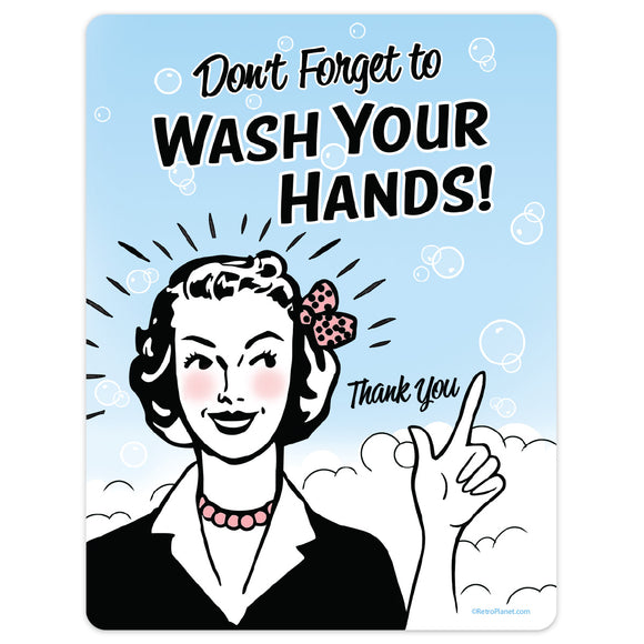 Wash Your Hands Mini Vinyl Sticker 20 ct