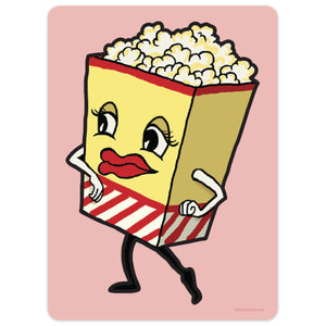Dancing Popcorn Mini Vinyl Sticker 20 ct