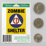 Zombie Shelter Civil Defense Mini Vinyl Sticker 20 ct