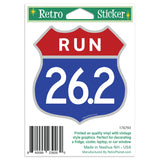 Run Marathon 26.2 Shield Mini Vinyl Sticker 20 ct