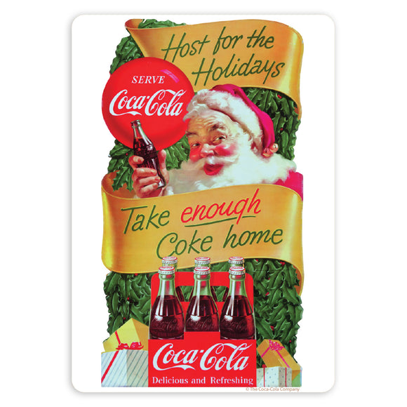Coca-Cola Santa Take Enough Home Mini Vinyl Stickers 20 ct
