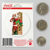 Coca-Cola Santa Grandfather Clock Mini Vinyl Stickers 20 ct