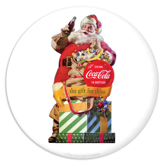 Coca-Cola Santa Gift For Thirst Mini Vinyl Stickers 20 ct