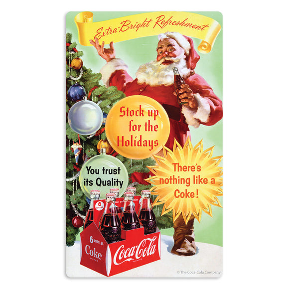 Coca-Cola Santa Extra Bright Refreshment Mini Vinyl Stickers 20 ct