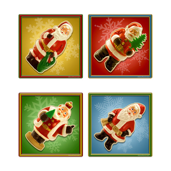 Santa Toys Vinyl Sticker Set of 4