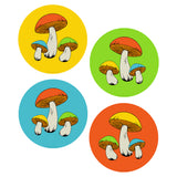Retro Mushrooms Vinyl Sticker Set of 4