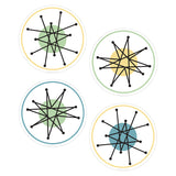 Atomic Starburst Vinyl Sticker Set of 4