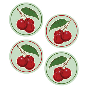 Retro Cherries Vinyl Sticker Set of 4