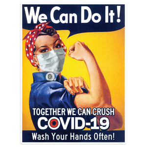 Rosie Riveter Vinyl Sticker Wash Your Hands