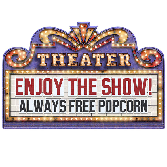 Home Theater Marquee Enjoy The Show Decal