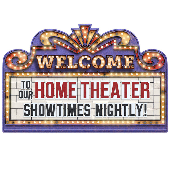 Home Theater Marquee Welcome Showtimes Nightly Decal